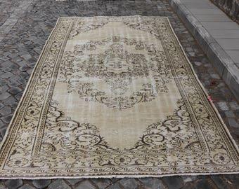 Free Shipping Oushak rug  3.8 x 9.7 ft.anatolian organic wool decorative rug, handmade wool rug, ethnic rug,tribal rug, organic rug, MB362