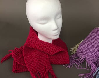Hand Knit Scarf - Color Choices