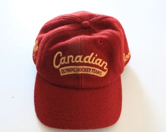 Rare Vintage Team Canada Olympic Roots Hockey Hat