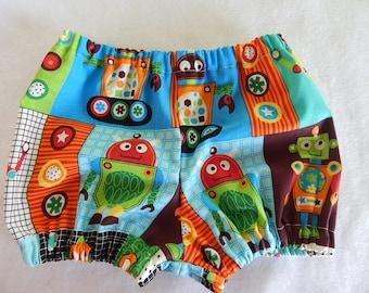 Robot Diaper Cover or Shorts**robot diaper cover**robot shorts**robot cake smash**robot birthday