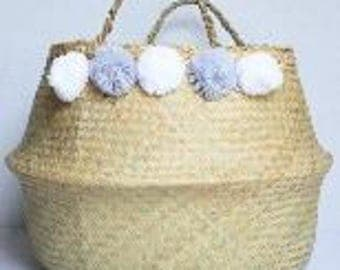 Pom Pom Belly Basket - Medium