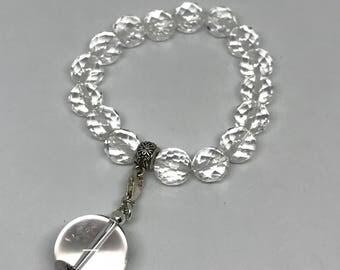 Clear quartz bracelet 16mm