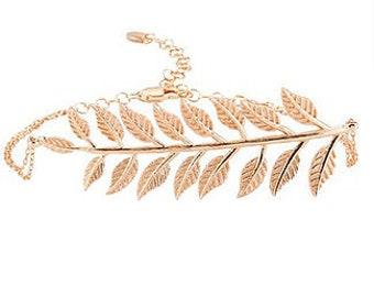Adjustable Leaves Bracelet
