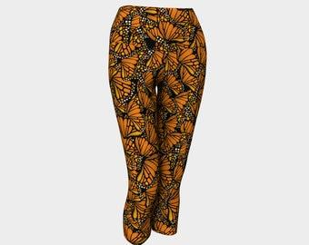 Yoga Capri Leggings - Monarch
