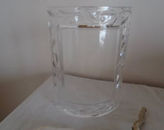 Photo frame crystal glass vintage floral pattern