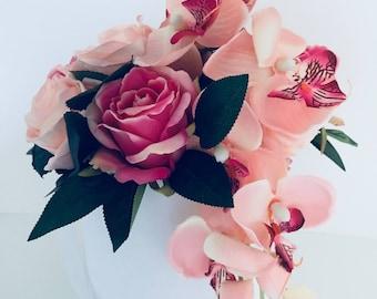 STUNNING artificial flower arrangement home decor wedding gift anniversary