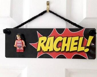 Superhero Door Plaque - Personalised