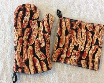 Bacon Oven Mitt and Hot Pad