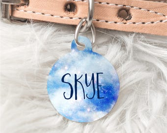 Personalised Pet ID Tag, Blue Sky Pet Tag