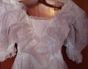 70's Vintage Wedding Dress