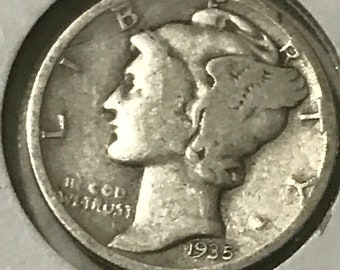 Liberty One dime 1935