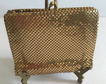 Vintage Gold Mesh Wallet & Coin Purse