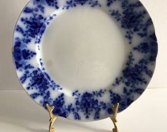 Antique China Ridgway Blue Flow Osborne Salad Plate