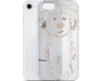 Brown/Tan Doodle iPhone Case - GoldenDoodle LabraDoodle