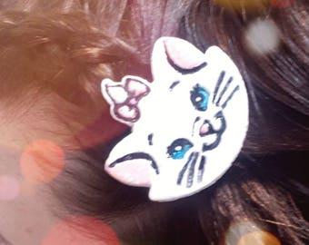 Disney aristocats inspired Marie hair clip
