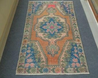 Vintage Oushak Rug, Oushak Rug, Turkish Rug, Woven Rug, Tribal Rug, Anatolian Rug, Handmade Rug, Home Decor Rug