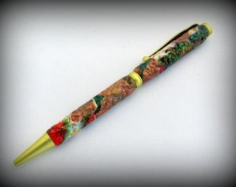 Pen, Ballpoint Pen, Handcrafted Pen, Unique Pen, Gift Pen, Polymer Clay Pen