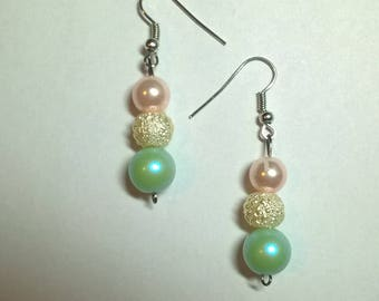 Multi Colored Faux Pearl Earrings