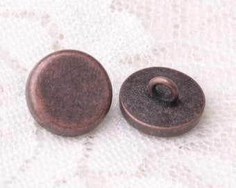 12*6mm button 10pcs shirt sewing button zinc alloy copper button shank button