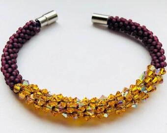 Pearl bracelet with Swarovski beads
