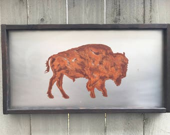 Rusted Metal Buffalo