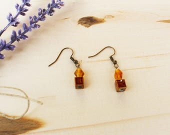 Bronze Copper Earrings