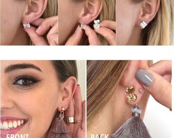 Hot sale !2-PAIRS 2018 Original Magic Bax Hypoallergenic , Support Earring Backs