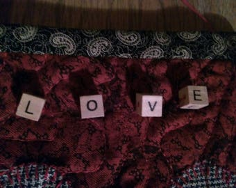 Valentine's decoration, quilted wall hanging