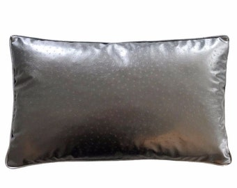 The Metallic Faux Leather Pillow