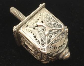 Silver filigrain Dreidel