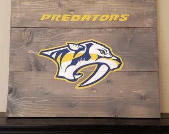 Nashville Predators wood sign