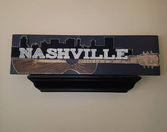 Nashville light up string art sign