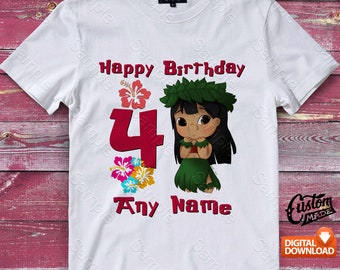 Lilo and Stitch Iron On Transfer, Lilo and Stitch Birthday Shirt, Lilo and Stitch Shirt Designs, Lilo and Stitch Printable, Digital Files