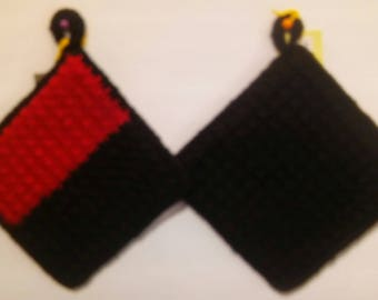 Crocheted Double Sided Pot Holder