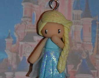 Born in polymer clay Elsa - Disney Princess Collection - handmade jewelry