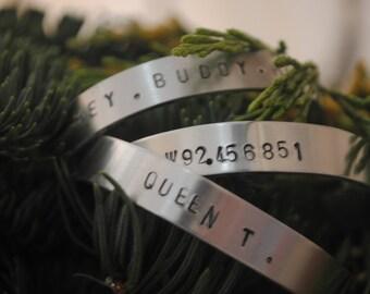Custom Bracelet 1/3 inch, Gift for Friends, Birthdays, Engagements, Mothers, Weddings, Bridal, Sorority, New Moms, Girlfriends