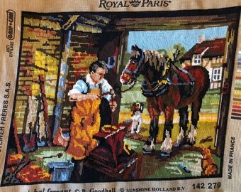 Needlepoint Tapestry - The Farrier