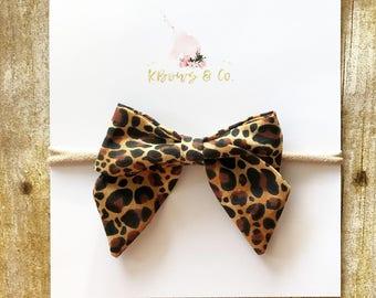 Leopard Sailor Bow