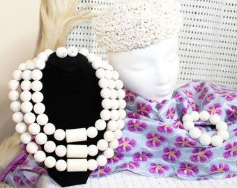 Full White Royalty African Wedding Jewelry Set for Traditional Wedding/Igbo/Benin/Edo Wedding