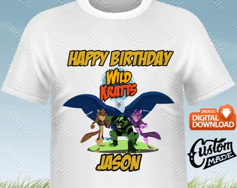 Wild Kratts Iron On Transfer, Wild Kratts Birthday Shirt DIY, Wild Kratts Shirt Designs, Wild Kratts Printable, Wild Kratts, Digital Files