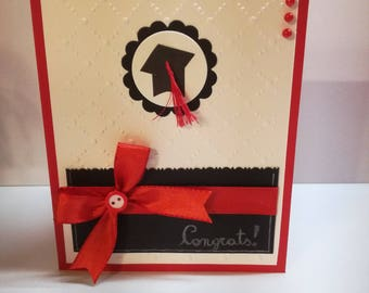 Graduation-Greeting Card (size 10 x 12.50 cm)-Congratulations-congrats-red-110 and praise