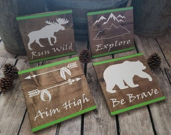 Rustic Four Sign Collection