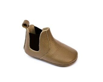 Baby Leather Moccasin Boots.