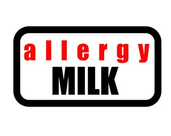 Medical Patch - ALLERGY MILK - Embroidered