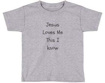 Kids  Jesus Loves Me This I Know   Short Sleeve T-Shirt