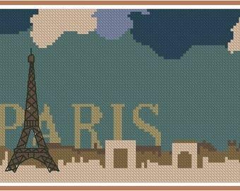 Cross stitch chart Paris ST-004