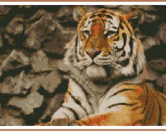 Cross stitch chart Tiger TG-002
