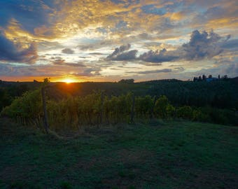 Tuscan Sunset - Italy Photo, Italy Print (Digital Download Printable in Various Sizes)