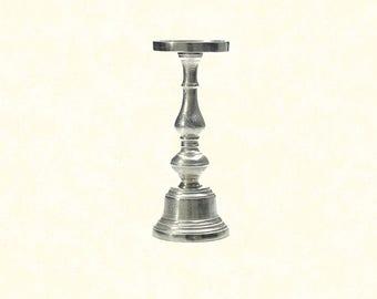 "Athena Candleholder 11.5"" - Silver"