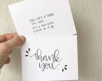 hand drawn thank you card